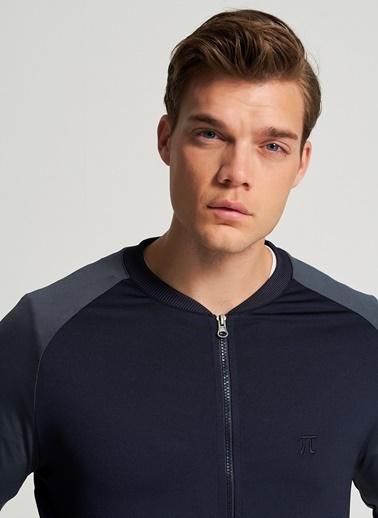 Pi π Nakış Detaylı Sweatshirt Lacivert